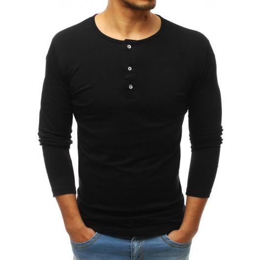 Čierny bavlnený nátelník pre pánov