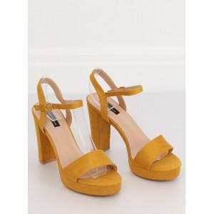 Trendové dámske sandále žltej farby na platforme