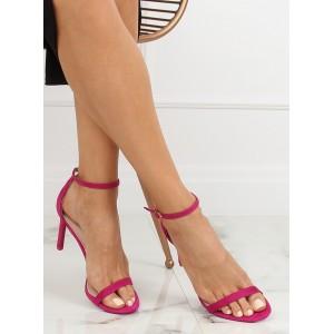 Letné dámske remienkové sandále bordovej farby