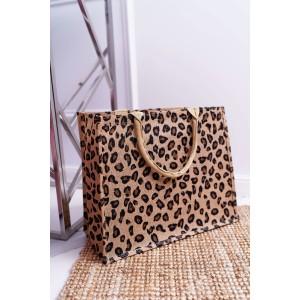 Štýlová plážová taška s leopardím vzorom