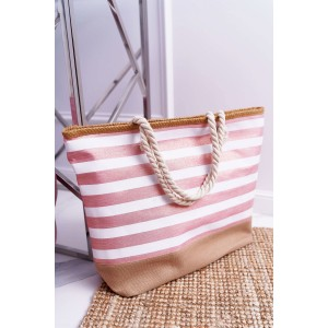 Luxusná plážová taška ružovej farby