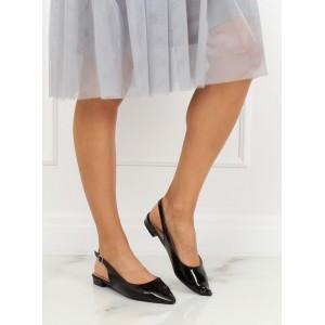 Čierne dámske baleríny