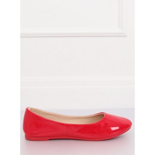 Štýlové červené dámske baleríny
