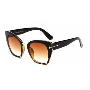 Elegantné dámske slnečné okuliare čiernej farby