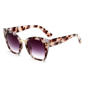 Veľké dámske slnečné okuliare s tigrovaným motívom