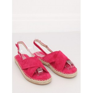 Krásne dámske letné sandále vo fuchsiovej farbe