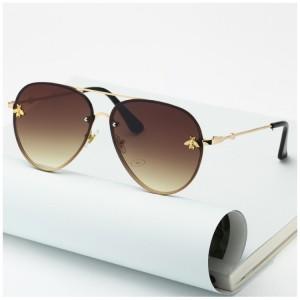 Matné okrúhle slnečné okuliare pre dámy