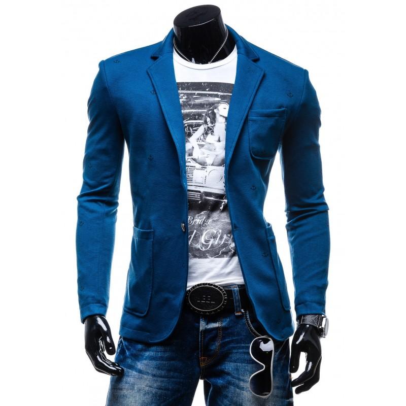 15d425db43 Modré pánske športové sako na každú príležitosť - fashionday.eu