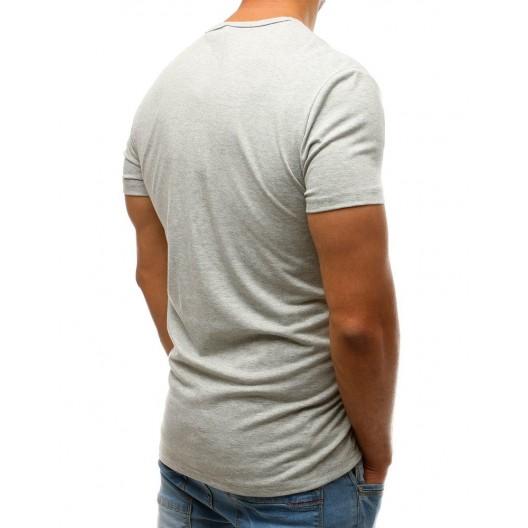 Svetlo sivé pánske tričko s farebnou potlačou