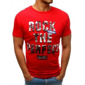 Trendové letné pánske tričko červenej farby
