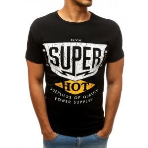 Letné pánske tričko s krátkym rukávom čiernej farby
