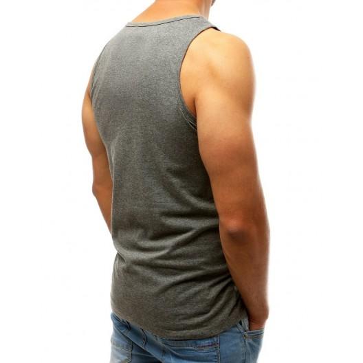Sivé pánske tričko bez rukávov