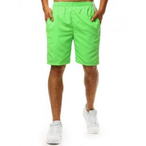 Štýlové pánske plavky v trendy neónovo zelenej farbe