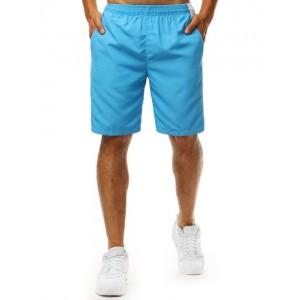 Trendy letné svetlo modré pánske plavky s designom šortiek