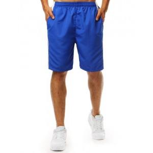 Pánske plavky kraťasy v modrej farba a s bočnými vreckami