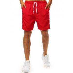 Červené pánske plavky s regulovateľnou šnúrkou v páse