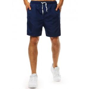 Tmavo modré pánske plavky boxerky s regulovateľnou šnúrkou