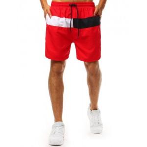 Originálne pánske červené plavky boxerky s bočnými vreckami