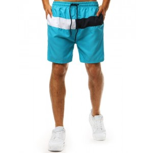 Trendy pánske plavky pre mužov v módnej tyrkysovej farbe