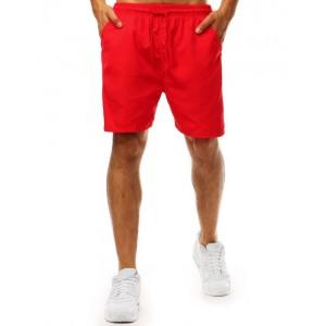 Pánske šortkové červené plavky relugovateľné šnúrkou v páse