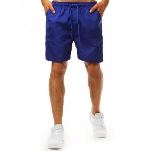 Pánske plavky v kráľovsky modrej farbe s vreckami ozdobenými pruhmi