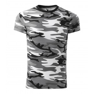 Pánske army tričko v sivej farbe