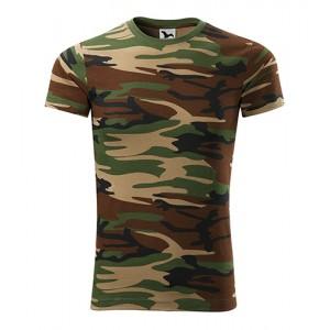 Pánske zelené tričko v army motíve