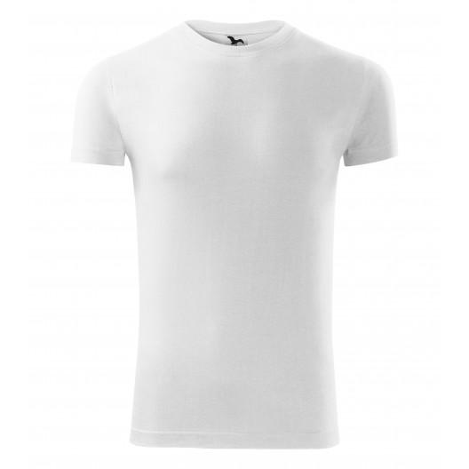 Biele pánske bavlnené tričko s krátkym rukávom