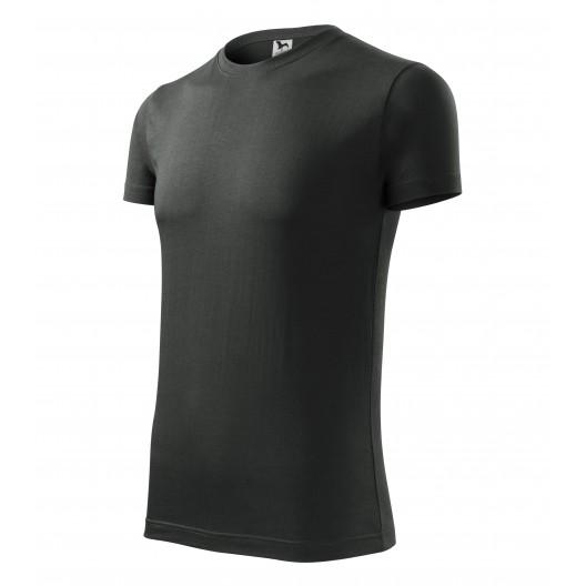 Tmavé pánske tričko s krátkym rukávom