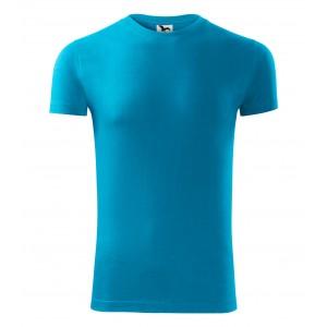Tyrkysové pánske tričko s krátkym rukávom