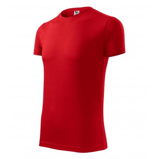Pánske tričko v červenej farbe s krátkym rukávom