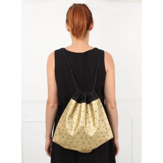 Dievčenský batoh v zlatej farbe
