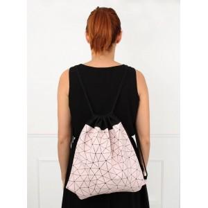Lacný ružový ruksak pre dámy