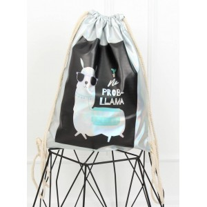 Batoh na chrbát s potlačou lamy