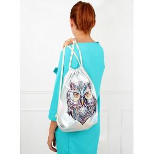 Malý ruksak na chrbát s motívom sovy