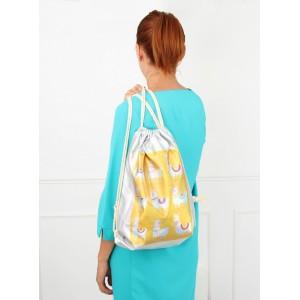 Strieborný batoh na chrbát s rozprávkovým motívom