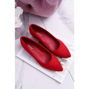 Lacné dámske lodičky v červenej farbe