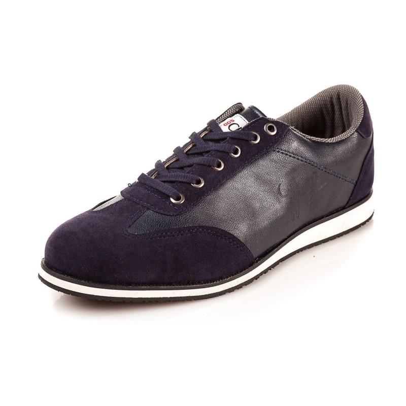 Pohodlné pánske topánky tmavo-modrej farby so semišom - fashionday.eu b67df641a1f