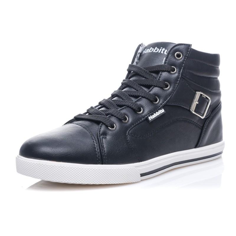 68237dab2301 Štýlové pánske členkové topánky čiernej farby - fashionday.eu