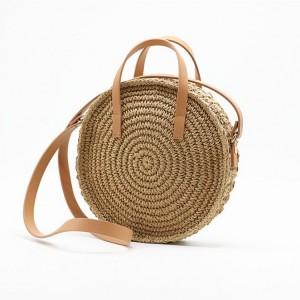 Pletená kabelka na rameno v béžovej farbe