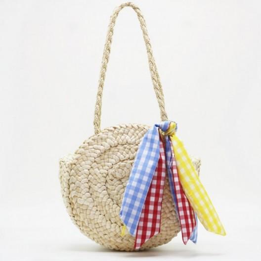 Štýlová pletená kabelka na leto