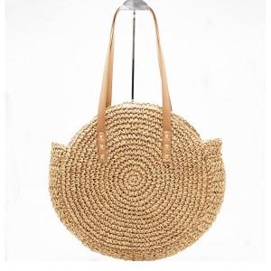 Dámska pletená kabelka v okrúhlom tvare
