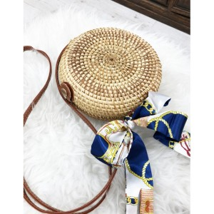 Dámska pletená kabelka so stužkou