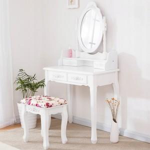 Toaletný stolík s úložným priestorom na šperky a kozmetiku