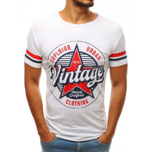 Pánske tričko s nápisom v bielej fabre