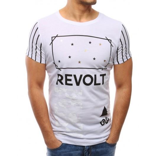 Moderné pánske biele tričko