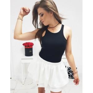 Originálne dámske jednofarebné čierne tričko boxerské