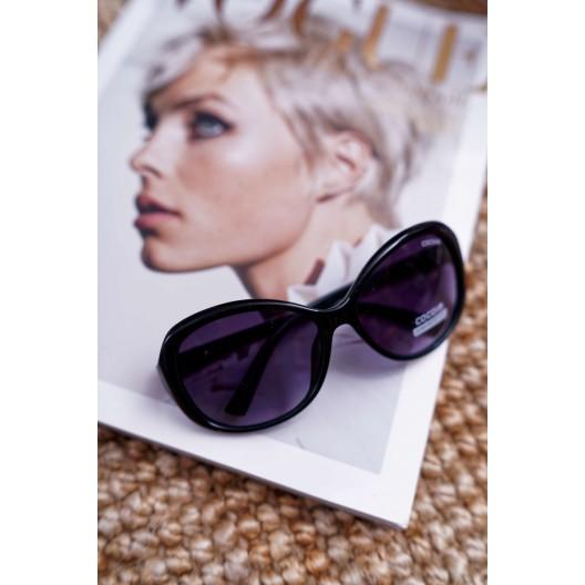 Originálne čierno zelené dámske slnečné okuliare v módnom designe