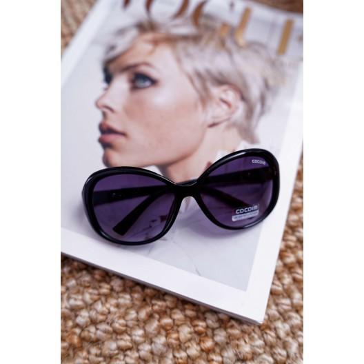 Trendy dámske slnečné okuliare v čiernej farbe