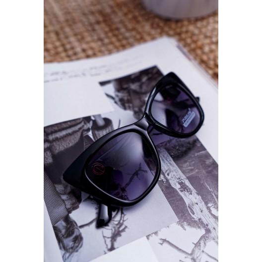 Veľké čierne mačacie okuliare v čiernej farbe